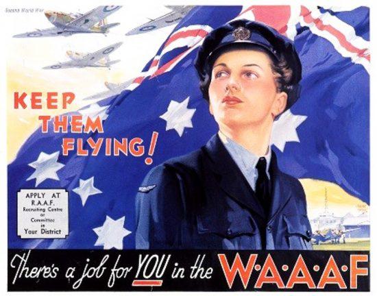 WWII Australian WAAAF Recruiting Poster.