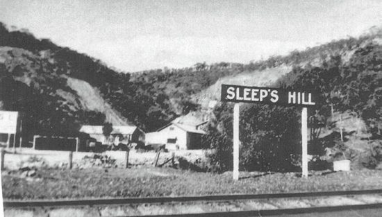 Sleeps Hill Railway Siding c.1930s.