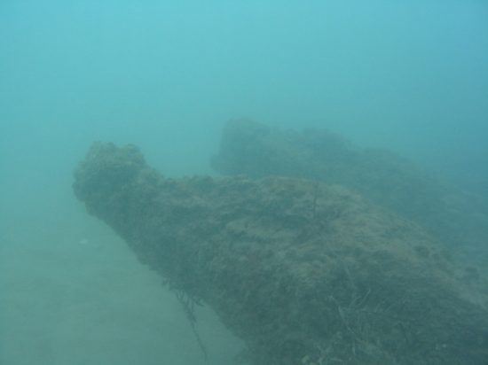 Wreck of HMS Buffalo.