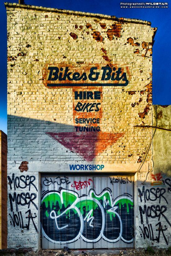 Bikes & Bits, Abandoned Building, Metro Adelaide.