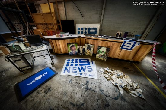 Channel 9 Studios, Tynte Street, Abandoned Buildings, North Adelaide.