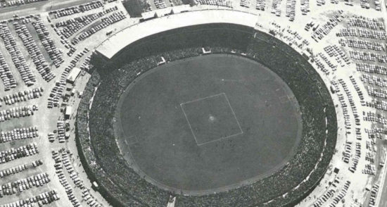 Footy Park's biggest ever crowd at the 1976 grand final.