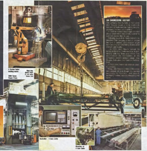 Collage of images from within the Kilkenny Shearers' Factory.
