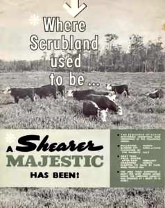 "Shearer Majestic Plough ""Where Scrubland used to be .."" sales brochure"