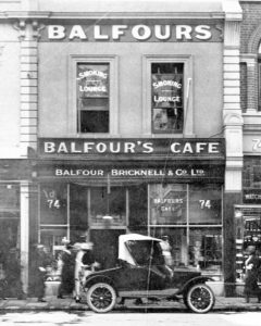 Balfours Cafe, Adelaide c. 1924