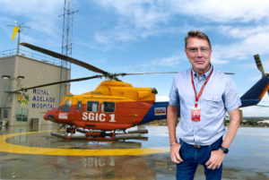 Royal Adelaide Hospital Helipad with SGIC 1 Helicopter comp. Mika Hakkinen.