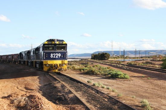 Port Augusta Power Station's last coal train 27-4-2016.